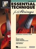 Essential Technique for Strings   Voila Book PDF