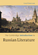 The Cambridge Introduction to Russian Literature