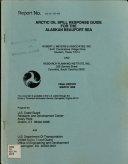 Arctic Oil Spill Response Guide for the Alaskan Beaufort Sea
