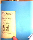 The rock  and the wee pickle tow  with the answer  songs