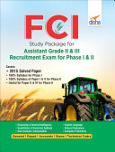 FCI Study Package for Assistant Grade II & III Recruitment Exam for Phase I & II 2nd Edition Book