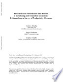 Infrastructure Performance And Reform In Developing And Transition Economies Book PDF