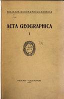 Acta Geographica