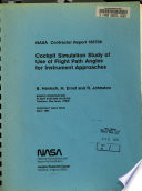 Cockpit Simulation Study of Use of Flight Path Angle for Instrument Approaches