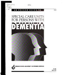 An Oregon Guide to Special Care Units for Persons with Dementia