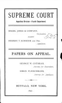 Supreme Court Appellate Division Fourth Department Book