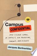 Campus Confidential Book