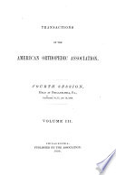 Transactions of the American Orthopedic Association