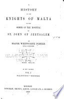 A History of the Knights of Malta Book