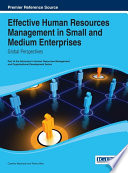 Effective Human Resources Management in Small and Medium Enterprises  Global Perspectives