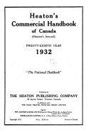 Heaton S Commercial Handbook Of Canada