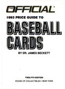 The Official Price Guide to Baseball Cards  1993