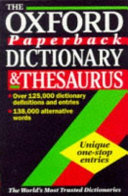 The Oxford Paperback Dictionary   Thesaurus