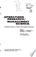 Operations Research/Management Science
