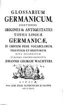 Glossarium Germanicum