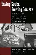 Saving Souls, Serving Society