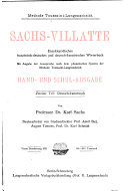 Sachs-Villatte enzyklopädisches französisch-deutsches
