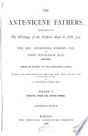The Ante Nicene Fathers Book