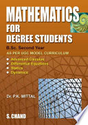 Mathematics for Degree Students (For B.Sc. Second Year)