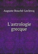 Pdf L'astrologie grecque Telecharger