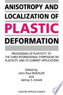 Anisotropy and Localization of Plastic Deformation Book