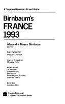 Birnbaum s France 1993