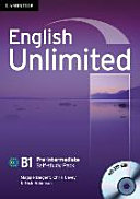 English Unlimited Pre intermediate Self study Pack  Workbook with DVD ROM