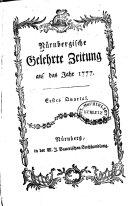 Nürnbergische gelehrte zeitung ...