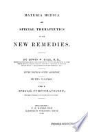 Materia Medica And Special Therapeutics Of The New Remedies