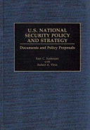 U S  National Security Policy and Strategy