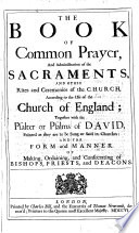 The Book Of Common Prayer Etc B L
