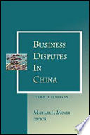 Business Disputes in China - 3rd Edition