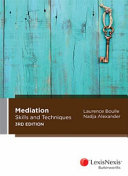 Cover of Mediation Skills & Techniques
