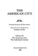 The American City  The American city   the individual context
