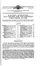 Scouting, quarantine, and control for the European corn borer, 1917-26