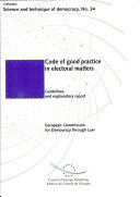 Code of Good Practice in Electoral Matters