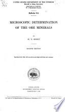 Microscopic Determination Of The Ore Minerals