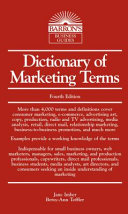 Dictionary of Marketing Terms (Barron's Business Guides)