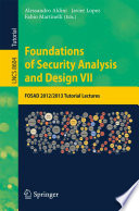 Foundations of Security Analysis and Design VII