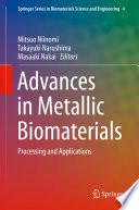 Advances in Metallic Biomaterials Book