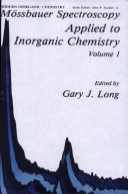 M  ssbauer Spectroscopy Applied to Inorganic Chemistry