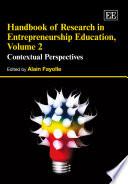 Handbook of Research in Entrepreneurship Education