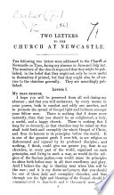 Two Letters to the Church at Newcastle Book