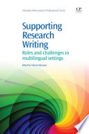 Supporting Research Writing Book