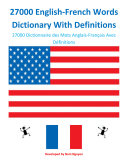 27000 English-French Words Dictionary With Definitions Pdf/ePub eBook