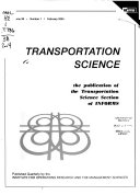 Transportation Science Book PDF