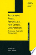 Reforming Fiscal Federalism for Global Competition