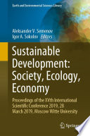 Sustainable Development  Society  Ecology  Economy
