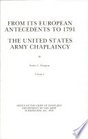 From Its European Antecedents to 1791 Book