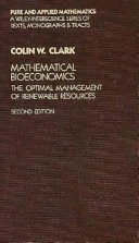 Mathematical Bioeconomics Book PDF